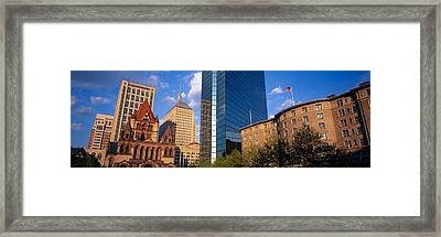 Usa, Massachusetts, Boston, Copley Framed Print by Panoramic Images