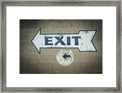 Usa, Mississippi, Exit Sign In Great Framed Print by Dosfotos