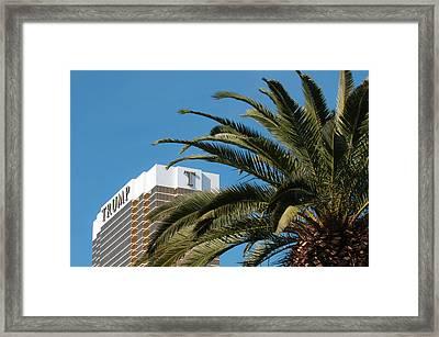 Usa, Nevada Trump Hotel Las Vegas Framed Print by Michael Defreitas