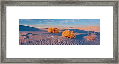 Usa, New Mexico, White Sands, Sunset Framed Print by Panoramic Images