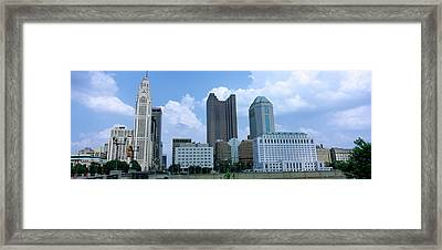 Usa, Ohio, Columbus, Clouds Over Tall Framed Print by Panoramic Images