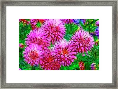 Usa, Oregon Abstract Of Digitally Framed Print by Jaynes Gallery