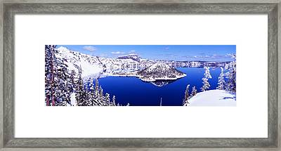 Usa, Oregon, Crater Lake National Park Framed Print by Panoramic Images