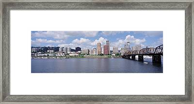 Usa, Oregon, Portland, Willamette River Framed Print by Panoramic Images