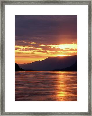 Usa, Oregon, View Of Columbia River Framed Print by Stuart Westmorland