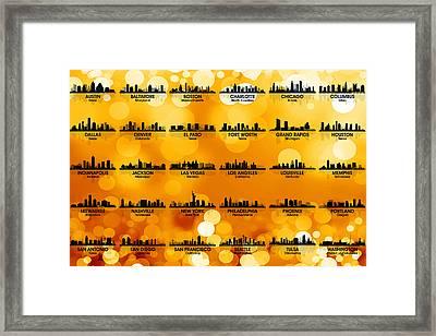 Usa Skylines 3 Framed Print by Angelina Vick