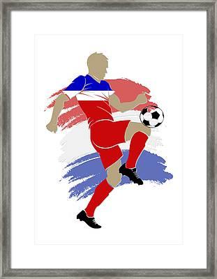 Usa Soccer Player Framed Print by Joe Hamilton