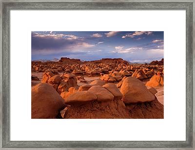 Usa; Utah View Of Goblin Valley State Framed Print by Jaynes Gallery