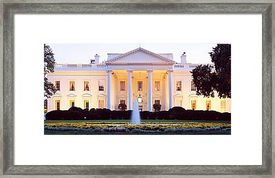 Usa, Washington Dc, White House Framed Print by Panoramic Images