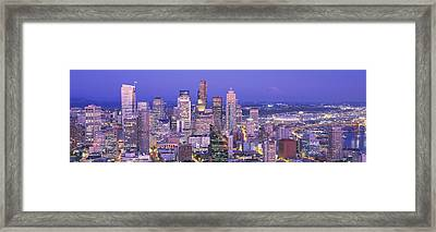 Usa, Washington, Seattle, Cityscape Framed Print by Panoramic Images