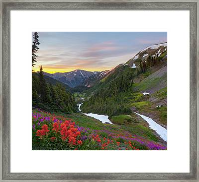 Usa Washington State, Olympic National Framed Print by Gary Luhm