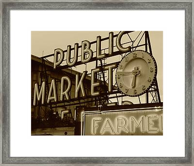 Usa, Washington State, Seattle, View Framed Print by Walter Bibikow