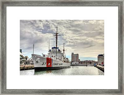 Uscg Cutter Taney Framed Print by JC Findley