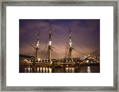 Uss Constitution Boston   Framed Print by John McGraw