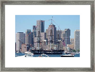 Uss Constitution Framed Print by Catherine Gagne