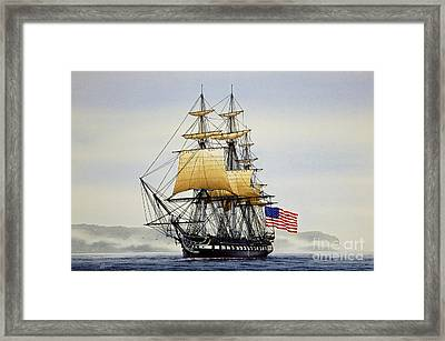 Uss Constitution Framed Print by James Williamson