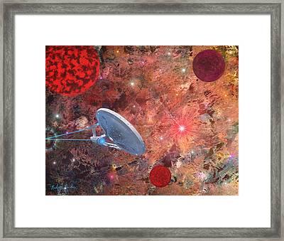 U.s.s Enterprise -orion  Framed Print by Michael Rucker