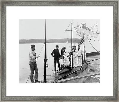 Uss Holland As Training Submarine Framed Print by Us Navy