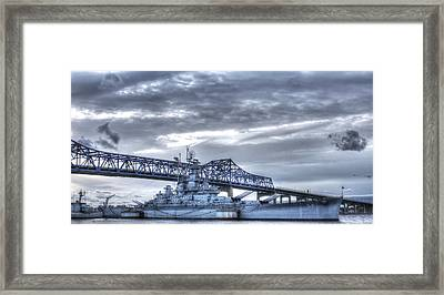 Uss Massachusetts Framed Print by Andrew Pacheco