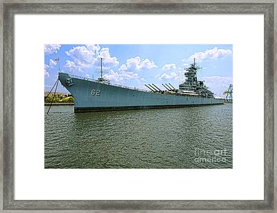 Uss New Jersey Framed Print by Olivier Le Queinec