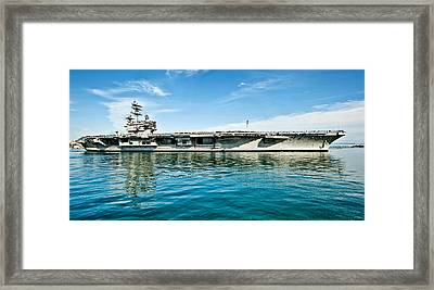 Uss Ronald Reagan Framed Print by Mountain Dreams