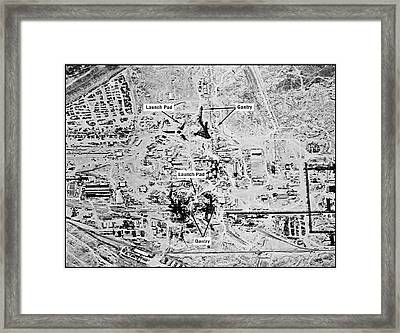 Ussr Missile Test Range Framed Print by National Reconnaissance Office