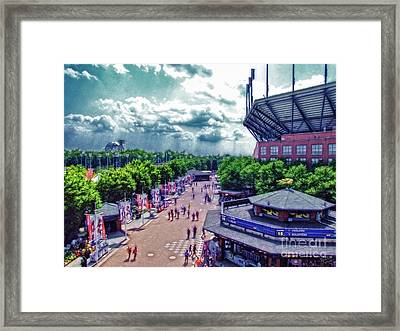 Usta Grounds Flushing Meadows Framed Print by Nishanth Gopinathan