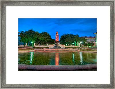 Ut Tower '09 Framed Print by Preston Broadfoot