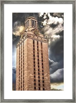 Ut Tower Framed Print by Tejas Prints
