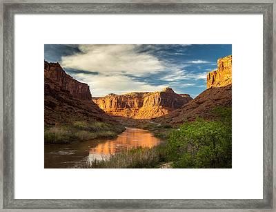 Utah Highway 128 Framed Print by Michael J Bauer
