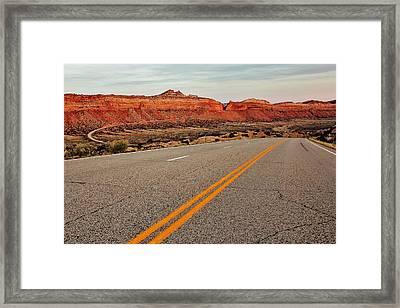 Utah Highway Framed Print by Benjamin Yeager