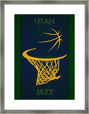 Utah Jazz Court Framed Print by Joe Hamilton