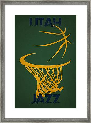 Utah Jazz Hoop Framed Print by Joe Hamilton