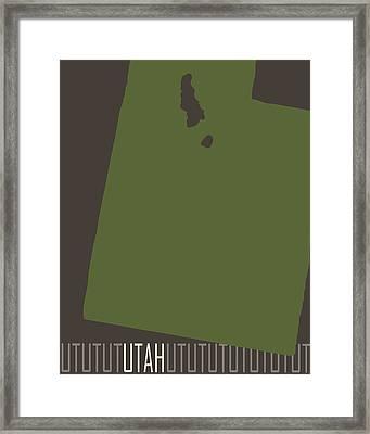 Utah State Modern Framed Print by Flo Karp