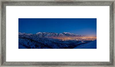Utah Valley Framed Print by Chad Dutson