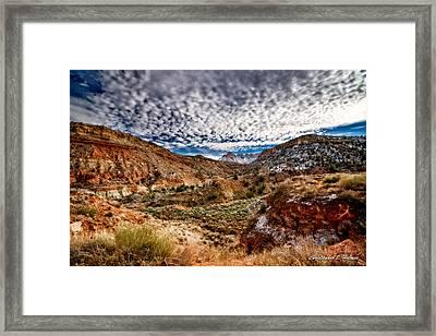 Utah Winter Scenic Framed Print by Christopher Holmes