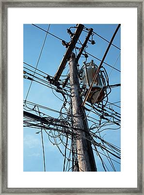 Utility Pole Framed Print by Jim West
