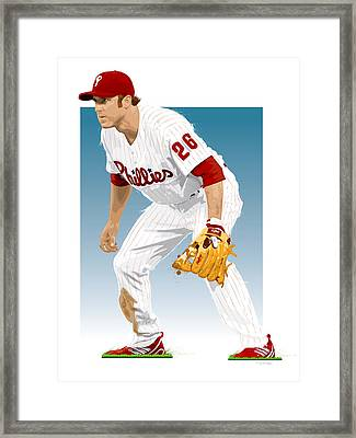 Utley In The Ready Framed Print by Scott Weigner