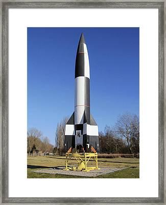V-2 Rocket Display, Peenemunde, Germany Framed Print by Science Photo Library