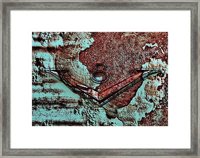 V Eight Framed Print by Greg Sharpe