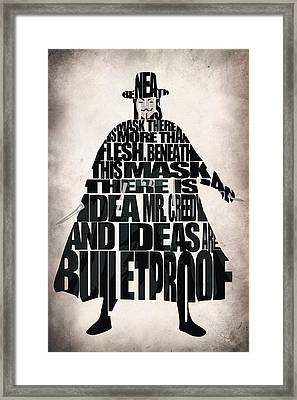 V For Vendetta Framed Print by Ayse Deniz