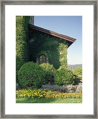 V Sattui Winery Vintage View Framed Print by Michelle Wiarda