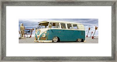 V W Lowrider At Gallop Framed Print by Mike McGlothlen