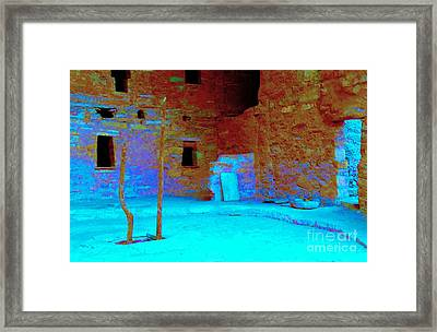 Vacancy At Spruce Tree House Framed Print by Ann Johndro-Collins