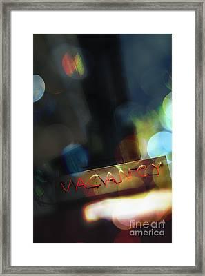 Vacancy Framed Print by Margie Hurwich