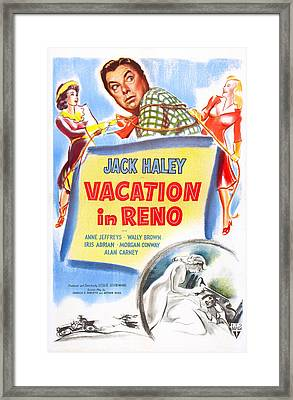 Vacation In Reno, Us Poster, From Left Framed Print by Everett