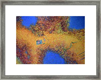 Vacationing On A Painting Framed Print by James W Johnson