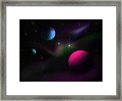 Vacuum Of Space Framed Print by Ricky Haug