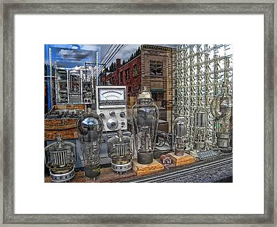 Vacuum Tubes And Diodes - Wallace Idaho Framed Print by Daniel Hagerman