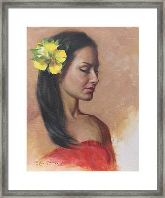 Vai Framed Print by Anna Rose Bain